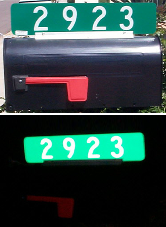 Address Sign Mounted on a Mailbox