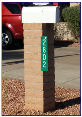Vertical Mailbox Sign