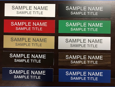 Sample Name Plate Colors